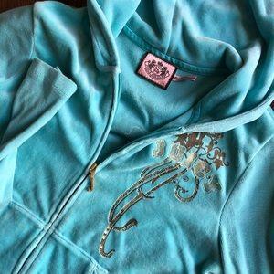 Juicy Couture Aqua Velvet Track Suit